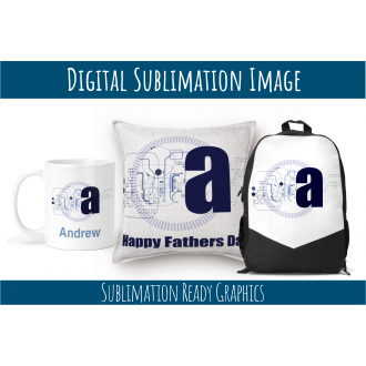 Technical Themed Alphabet for Fathers Day, Birthdays- Multi...