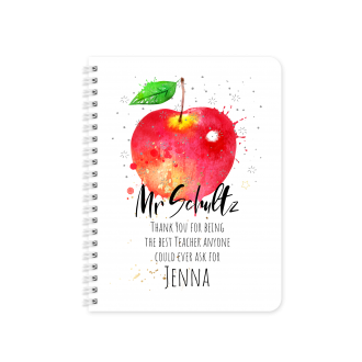Best Teacher Planner & Notebook Cover Red Apple - Sublimation...