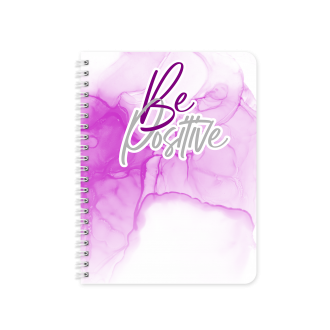 Be Positive Motivational Planner & Notebook Cover -...