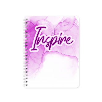 Inspire Motivational Planner & Notebook Cover - Sublimation &...