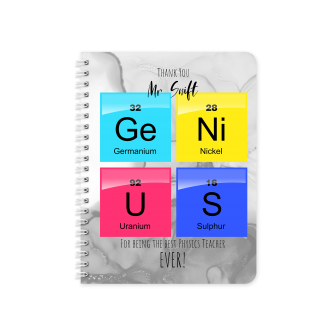 Best Physics Teacher Planner & Notebook Cover - Sublimation &...