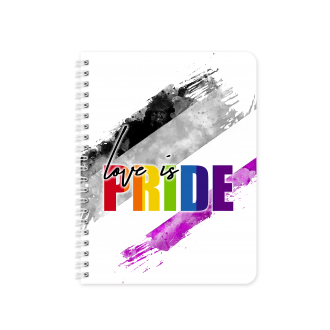 ASEXUAL Pride Gender Flag Themed Planner & Notebook Cover...