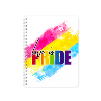 PANSEXUAL Pride Gender Flag Themed Planner & Notebook Cover...
