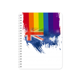 Australian Flag with Pride Colours - Planner & Notebook Cover...