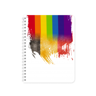 Belgian Flag with Pride Colours - Planner & Notebook Cover -...