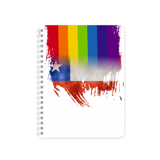 Chilean Flag with Pride Colours - Planner & Notebook Cover -...