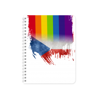 Czech Republic Flag with Pride Colours - Planner & Notebook Cover - Sublimation & Print Ready