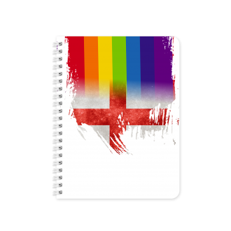 St. George Flag with Pride Colours - Planner & Notebook Cover...