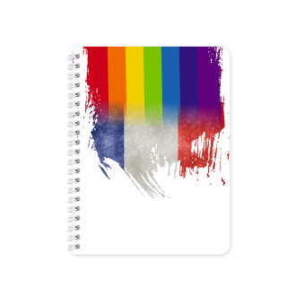French Flag with Pride Colours - Planner & Notebook Cover -...