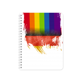 German Flag with Pride Colours - Planner & Notebook Cover -...