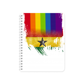 Ghanaian Flag with Pride Colours - Planner & Notebook Cover -...