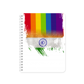 India Flag with Pride Colours - Planner & Notebook Cover -...