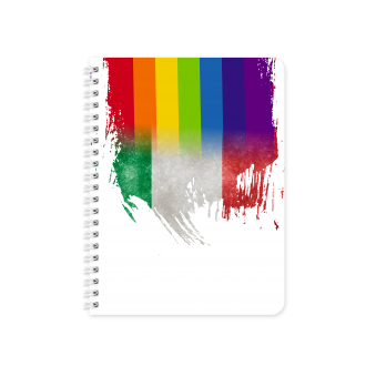 Italian Flag with Pride Colours - Planner & Notebook Cover -...