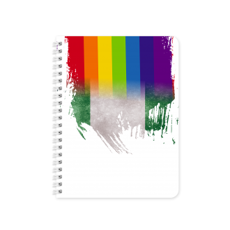 Nigerian Flag with Pride Colours - Planner & Notebook Cover -...