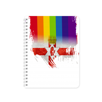 Northern Ireland Flag with Pride Colours - Planner & Notebook...