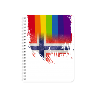 Norwegian Flag with Pride Colours - Planner & Notebook Cover -...