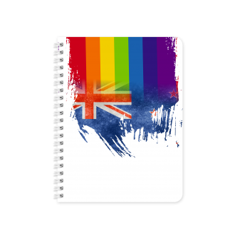 New Zealand Flag with Pride Colours - Planner & Notebook Cover...