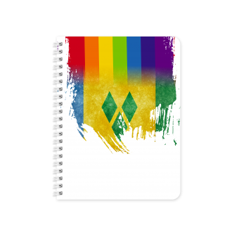 St Vincent Flag with Pride Colours - Planner & Notebook Cover...