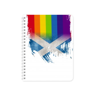 Scottish Flag with Pride Colours - Planner & Notebook Cover -...
