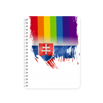 Slovakian Flag with Pride Colours - Planner & Notebook Cover -...