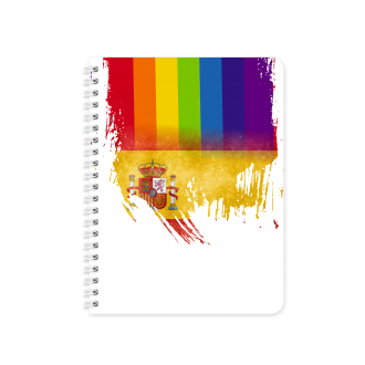 Spanish Flag with Pride Colours - Planner & Notebook Cover -...