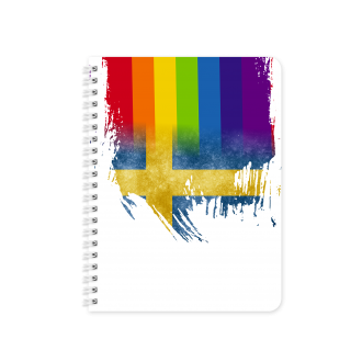 Swedish Flag with Pride Colours - Planner & Notebook Cover -...