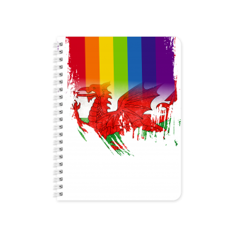 Welsh Flag with Pride Colours - Planner & Notebook Cover -...