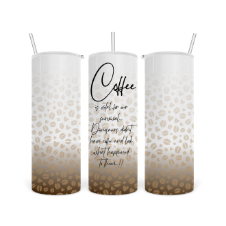 20oz Coffee Themed Tapered Skinny Tumbler Template -...