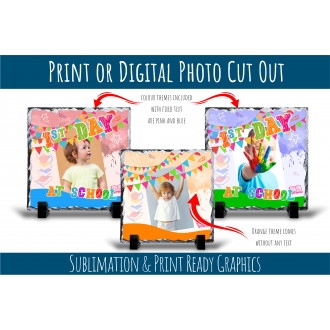 My 1st Day at School - Photo Mount Template Sublimation Ready