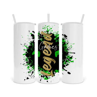 Skinny Tumbler Games Legend XBOX in Green  - Sublimation Ready