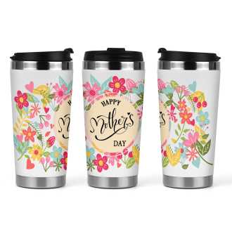 17oz Tapered Latte Mug Template - Mothers Day Floral 2 -...