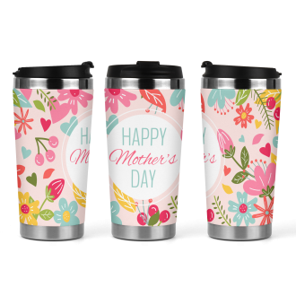 17oz Tapered Latte Mug Template - Mothers Day Floral 1 -...