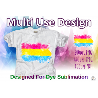 Pride T-Shirt Pansexual LGBTQ Pride Flag Water Splash - Dye...