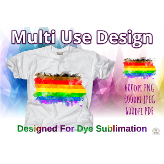 Pride T-Shirt People of Colour LGBTQ Pride Flag Water Splash -...