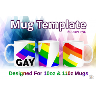 Gay ASF LGBTQ Pride Flag - Dye Sublimation Mug Design - Gay Pride
