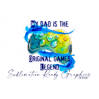 Dad Gamer Legend Fathers Day Gift For The Gamer Dad -...