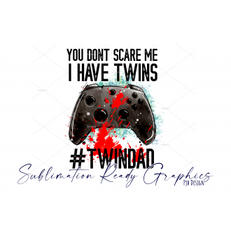 Twin Dad Controller Design Perfect for Birthday or Christmas...