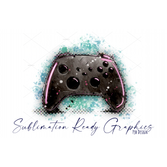 Games Controller Neon Pink Splatter Perfect for Birthday...