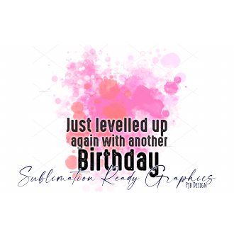 I Levelled Up Background in Pink Perfect for Birthday...