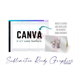 """Greetings Card 5"""" x 7"""" Design Template - Designed for Canva"""