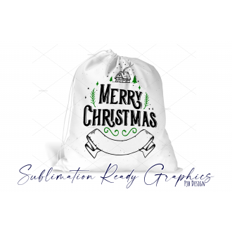 Santa Sack with Space for Any Name - Sublimation & SVG Ready