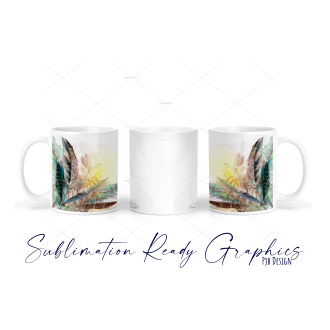 Mixed Feathers Multi Use Design - Sublimation Ready