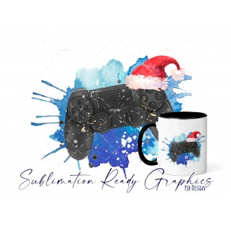 Christmas PS4 Gamer NO Text - Festive Multi Use Sublimation...