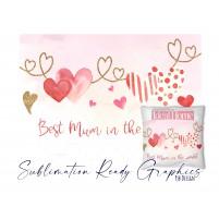 Best Mum & I Love You Double Design - Multi Use Design -...