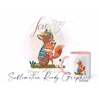 Mothers Day Design Baby Fox - Multi Use Design - Sublimation