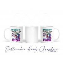 Batshit Crazy Unicorn Mood Multi Use & Mug Wrap - Digital Sublimation Ready Design