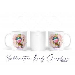 Little Adventure Unicorn Multi Use & Mug Wrap - Digital...