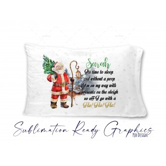 Christmas Eve Pillow Case Design with Verse & Gold Text -...