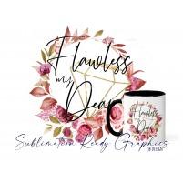 Diamond Flawless Floral Frame Mug & Multi Use Set Design -...