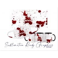 Halloween Blood Splatter Boo Themed Multi Use Design Ideal...